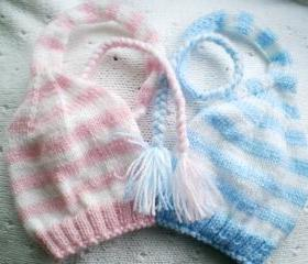 Baby Hat Photo Prop 'Blue and Pink Elfs'