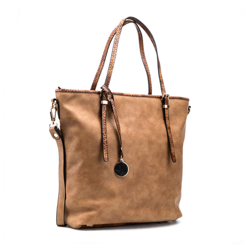 tan purse tote