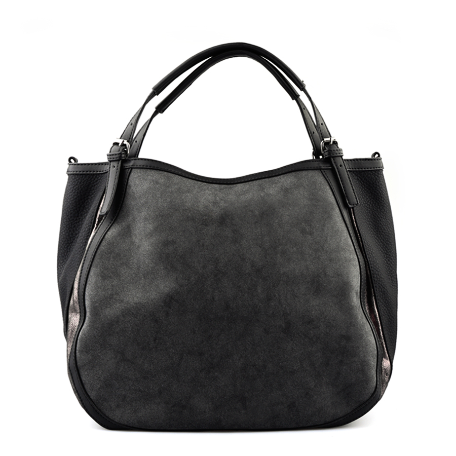 Black Hobo Handbag, Black Leather Tote, Black Handbags, Black Leather Purse. Handbags Fall-Winter 2015/2016.