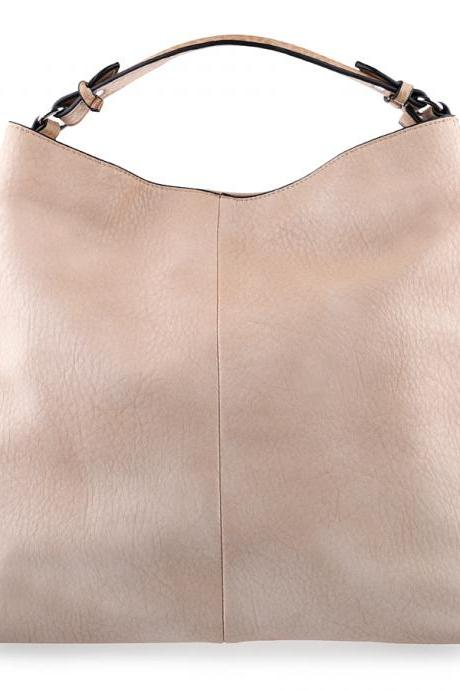 Beige Leather Tote, Beige Hobo, Beige Handbag, Beige Leather Handbag